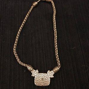 Brighton Jewelry - Brighton Silver and Gold Necklace/Choker